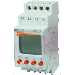 Реле напряжения TDM 3-фазное серии РН 12-3х400/230В (LCD-дисплей, 1нр+1нз-контакты)