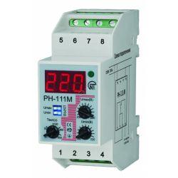 Реле напряжения РН-111М (1-фазное, регулируемуое, DIN-рейка, 2м) Новатек-Электро