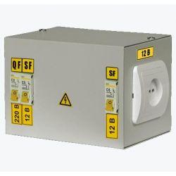 Ящик с понижающим трансформатором IEK ЯТП-0,25 220/36 3 автомата