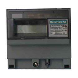 Счетчик Меркурий - 201.22 5(60)А DIN ЖКИ PLC-модем, 1фазный, 1 тарифный