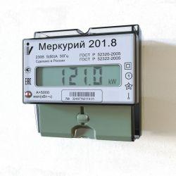 Счетчик Меркурий - 201.8 5/80А 230В ЖК 1 тарифный