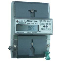 Счетчик Меркурий - 206 PRNO 5-60А DIN ЖКИ RS-485 1 тарифный