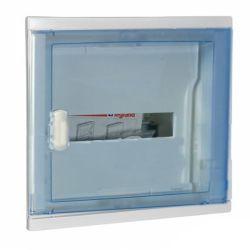 Бокс Legrand 001421 ЩРВ-П-12 IP41, IK07, 1ряд прозрачная скругленная дверь с клеммами NedBox