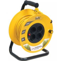 "Катушка IEK ""Garden"" УК20 с термозащитой, 4 места 2Р/20м 2х0,75 мм2"