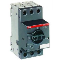 Автоматический выключатель с регулируемой тепловой защитой ABB MS116-6.3 50кА /1SAM250000R1009