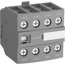 Блок контактный дополнительный ABB CA4-22E (2НО+2НЗ) для контакторов AF26…AF96..-30-00 и AF09…AF38..-22-00 /1SBN010140R1022/