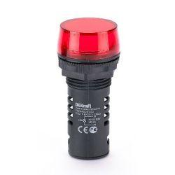Арматура светосигнальная DEKraft 25119DEK Лампа коммутационная ADDS 22 мм LED красная 220В AC/DC ЛK-22