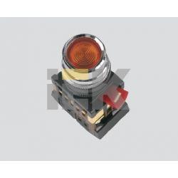 Арматура светосигнальная IEK ABLF-22 (белая) неон кнопка 1з+1р d22mm 240B