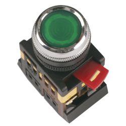 Арматура светосигнальная IEK ABLF-22 (зелёная) неон кнопка 1з+1р d22mm 240B