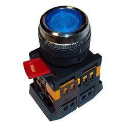 Арматура светосигнальная IEK ABLF-22 (синяя) неон кнопка 1з+1р d22mm 240B