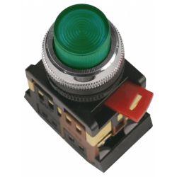 Арматура светосигнальная IEK ABLFP-22 (зелёная) неон кнопка 1з+1р 230В
