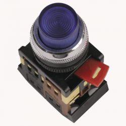 Арматура светосигнальная IEK ABLFP-22 (синяя) неон кнопка 1з+1р 230В