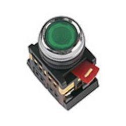 Арматура светосигнальная IEK ABLFS-22 (зелёная) неон кнопка плоская 1з+1р 230В