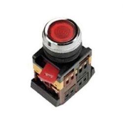 Арматура светосигнальная IEK ABLFS-22 (красная) неон кнопка плоская 1з+1р 230В