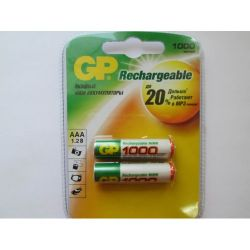 Аккумулятор GP R03/100AAAHC NiMH1000 mAh BP-4
