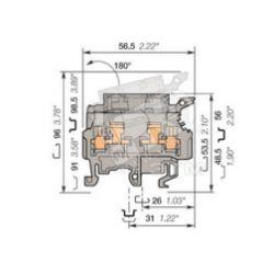 Клемма винт 4мм.кв. ABB M4/8.SF /1SNA115657R2500/