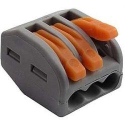 Клемма Wago 222-413 Соединительная для коммутационных коробок 3*0,08-4/2,5 кв.мм. (5штук)