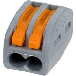 Клемма Wago 222-412 соединительная для коммутационных коробок 2*0,08-4/2,5 кв.мм. (5 штук)
