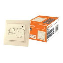 Термостат для теплых полов TDM Таймыр ТТП 16А 250В с датчиком 3м, цвет слоновая кость