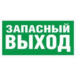 "Знак TDM ""Запасный выход"" 350х124мм для ССА (лист - 2 штуки)"