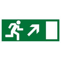"""Знак TDM """"Направление к эвакуационному выходу направо вверх"""" 350х124мм для ССА (лист - 2шт)"""