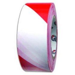 Лента оградительная 50мм*200м бело-красная