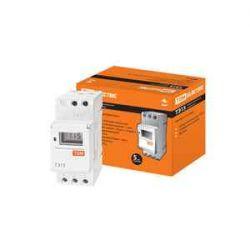 Таймер TDM ТЭ15-1минута/7дней-16on/off-16А-DIN, электронный SQ1503-0005