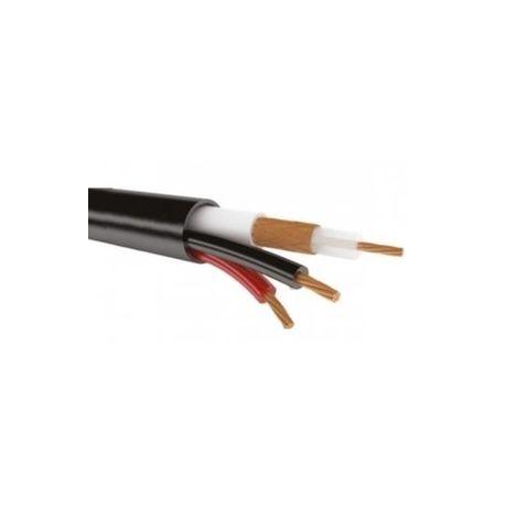 KBK-П-2x0,50 кабель для видеонаблюдения 200м., черный OUTDOOR REXANT (01-4013)