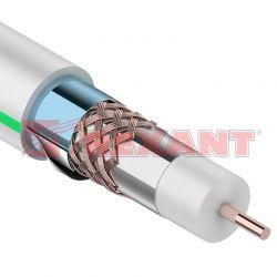 RG-6U+CU, (75%), 75 Ом, (тройной экран), MASTER REXANTбелый кабель (100м)