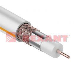 SAT 50 M, Cu/Al/Cu, (75%), 75 Ом, белый REXANT кабель