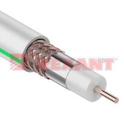 SAT 703 B, Cu/Al/Al, (75%), 75 Ом белый REXANT кабель (бухта - 20м)
