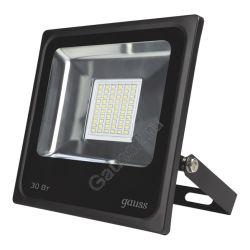 Прожектор светодиодный Gauss LED 30W IP65 6500К черный 1/10