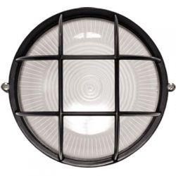 Светильник IEK НПП1102 черный круг с решеткой 100Вт IP54