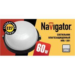 Светильник Navigator NBL-R1-60-E27 чёрный круглый открытый 94 811