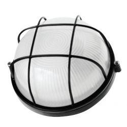 Светильник Navigator NBL-R2-60-E27 чёрный круглый с решеткой 94 812