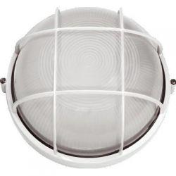 Светильник TDM НПБ1102 белый круг с решеткой 100Вт IP54