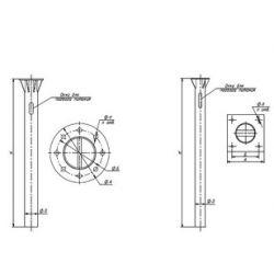Закладная деталь для опоры ЗФ-30/4/К300-2,0-б ТАНС.31.001.000