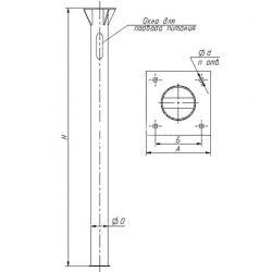 Закладная деталь для опоры 3Ф-20/4/К230-2,0-б ТАНС.31.110.000