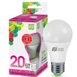 Светодиодная лампа ASD LED-A60-standard 20Вт 230В Е27 6500К 1800Лм