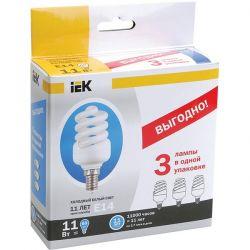 Компактная люминесцентная лампа IEK КЭЛ-FS Е27 30Вт 4000К спираль
