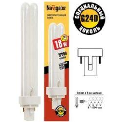 Компактная люминесцентная лампа Navigator NCL-PD-18-840-G24d2 18Вт 94 075