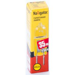 Галогенная лампа без рефлектора Navigator NH-JCD-35-220-G6.35 220V 35W 94 213