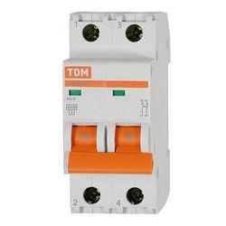 Автоматический выключатель 2П 6А хар-ка В 4,5кА TDM ВА47-29