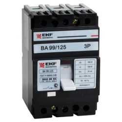 Автоматический выключатель 3П 100А 25кА ВА99 125/100А EKF PROxima