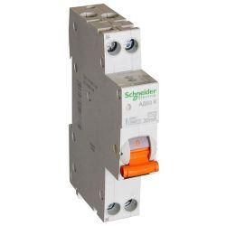 Дифференциальный автомат 2П 20А 30мА Schneider Electric Domovoy АД63К характеристика С тип АС 4,5кА компактн. 1П+N 12523