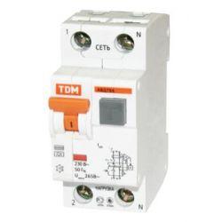 Дифференциальный автомат 2П 20А 30мА TDM АВДТ-64 характеристика С