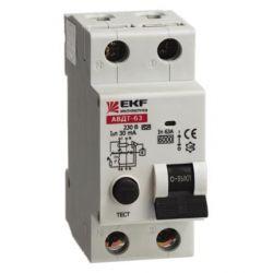 Дифференциальный автомат 2П 25А 30мА EKF PROxima АВДТ-63 характеристика С