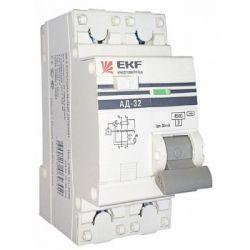 Дифференциальный автомат 2П 25А 30мА EKF PROxima АД-32