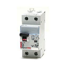Дифференциальный автомат 2П 25А 30мА Legrand RX3 АВДТхарактеристика С тип AC 1П+N 419401