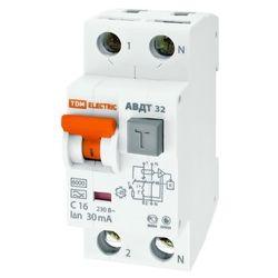 Дифференциальный автомат 2П 25А 30мА TDM АВДТ-32 характеристика С